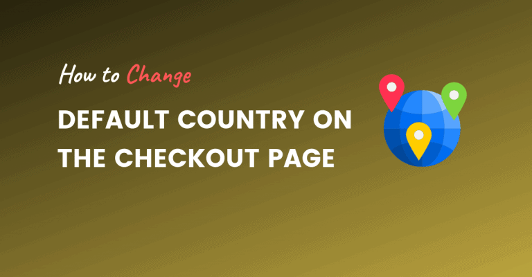 default country on the checkout page