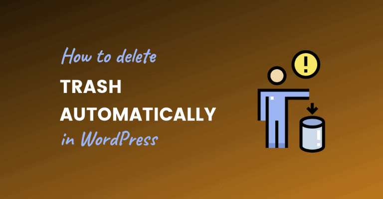delete trash automatically wordpress