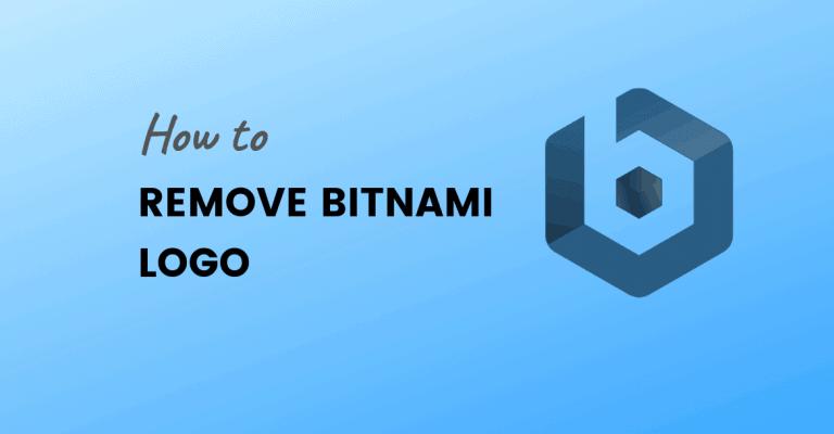 remove bitnami logo