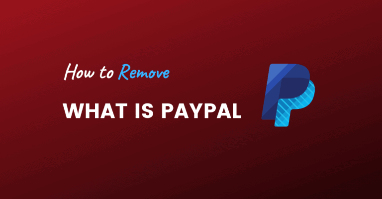 remove what is paypal