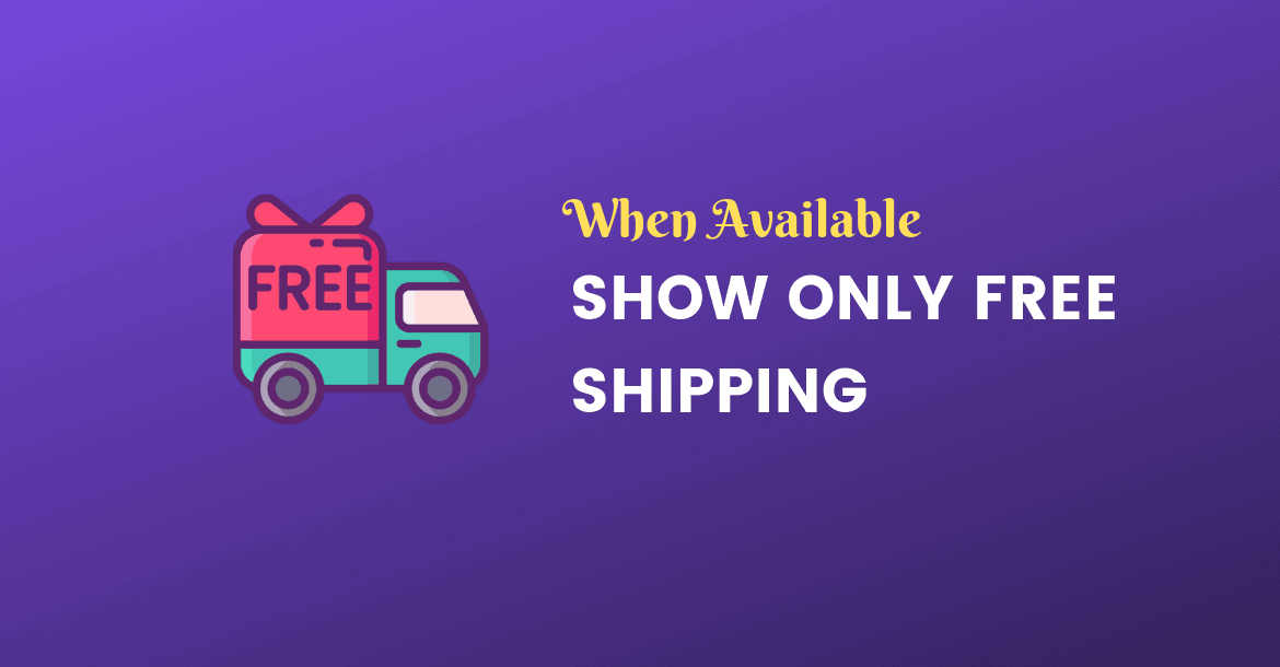show only free shipping if available