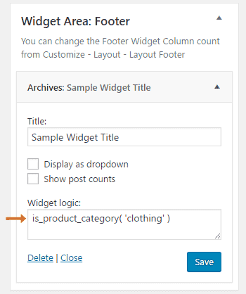 Display Different WordPress Widgets Based Categories or Page and post 2