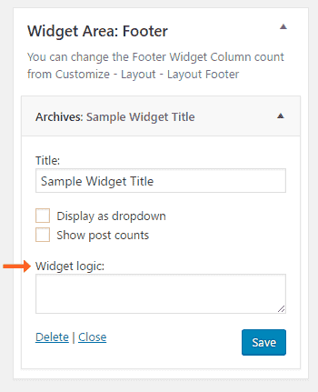 Display Different WordPress Widgets Based Categories or Page and post 1