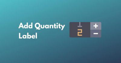 add quantity label