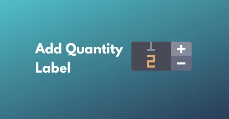 add quantity label