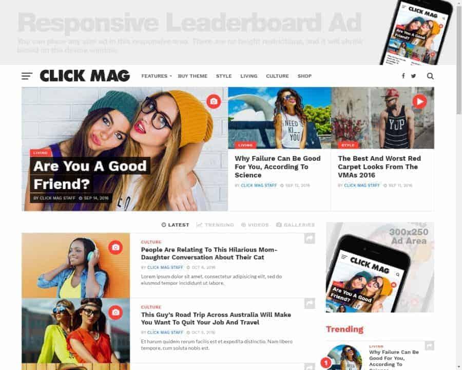click mag best wordpress theme