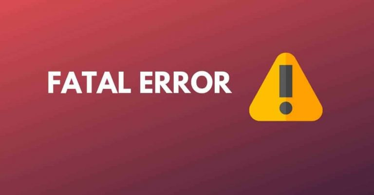 fix fatal error in wordpress