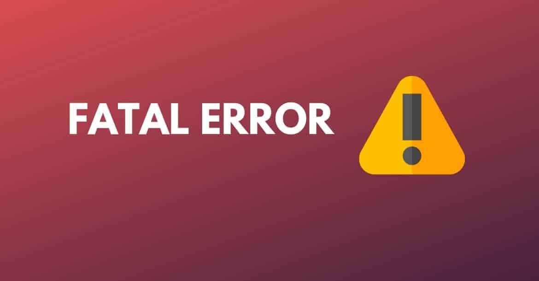 fix fatal error in wordpress