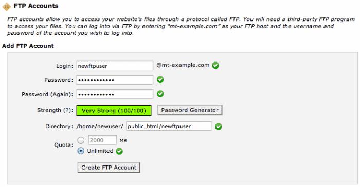 ftp user details
