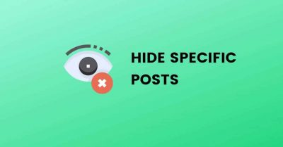 hide specific posts