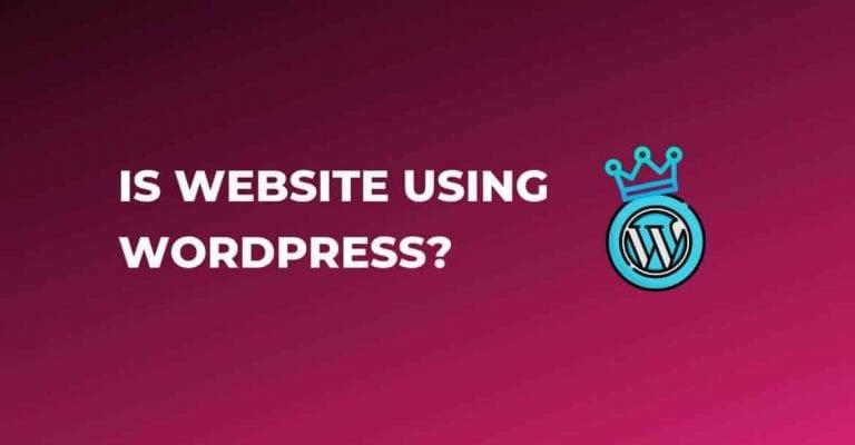 is website using wordpress