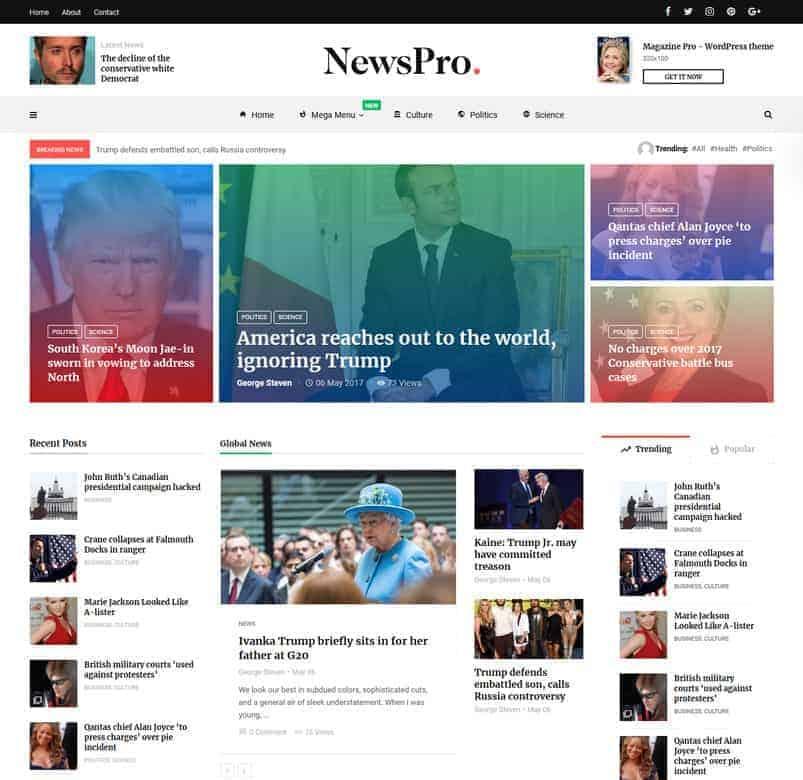 28+ Best WordPress News Themes 10