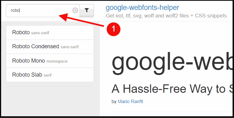 search for google fonts you want to use