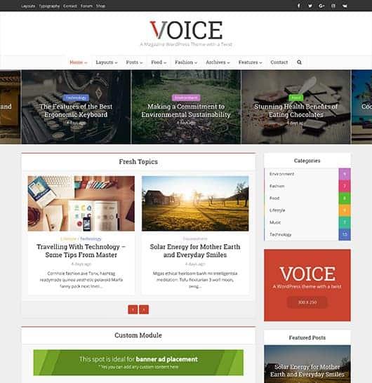 voice wordpress theme